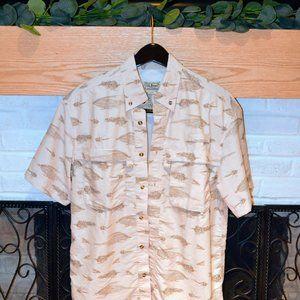 LL Bean Tropical Fishing Shirt Vented ● Never Worn